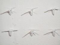 instal·lació de paper comestible per l'artista Sarah Misselbrook