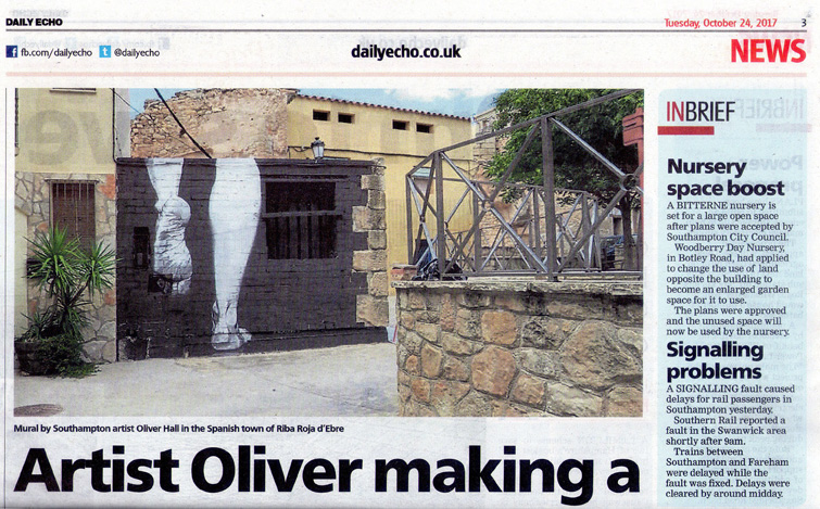 Southampton artist Oliver Hall creates mural in Catalonia